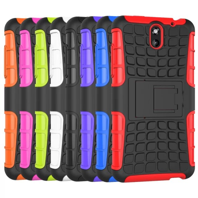 TPU and PC Material Support Protective Back Cover Case of Tire Pattern Design for HTC Desire 610