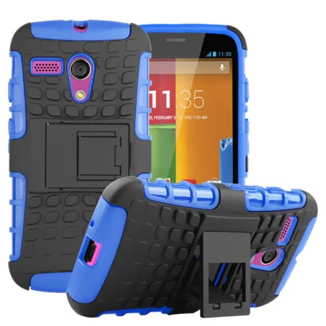 TPU and PC Material Support Protective Back Cover Case of Tire Pattern Design for Motorola moto G