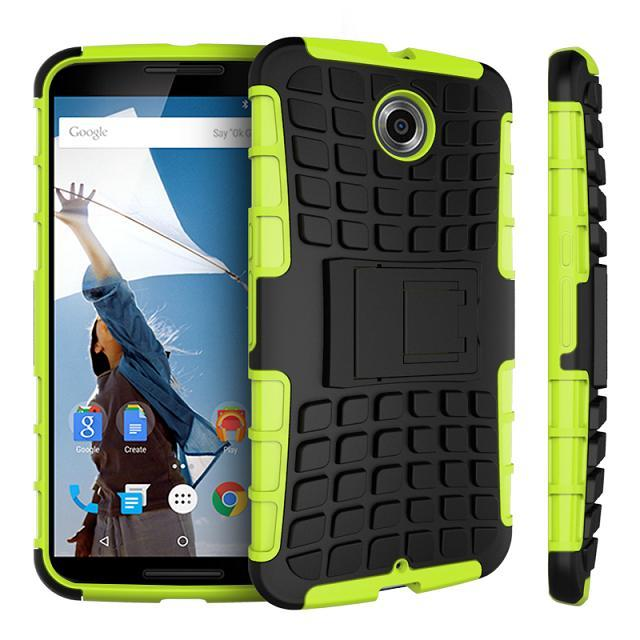 TPU and PC Material Support Protective Back Cover Case of Tire Pattern Design for Google Nexus 6