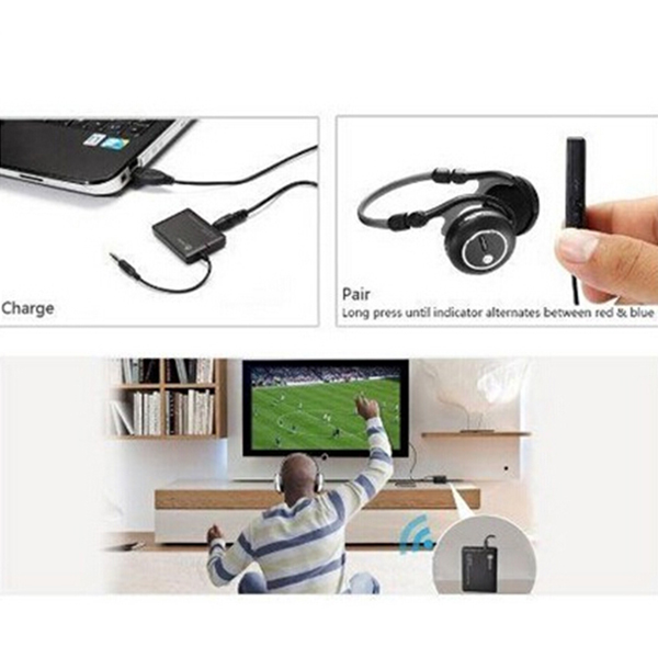 Bluetooth V2.1 + EDR A2DP 3.5mm Stereo Music HiFi Audio Dongle Adapter Wireless Transmitter
