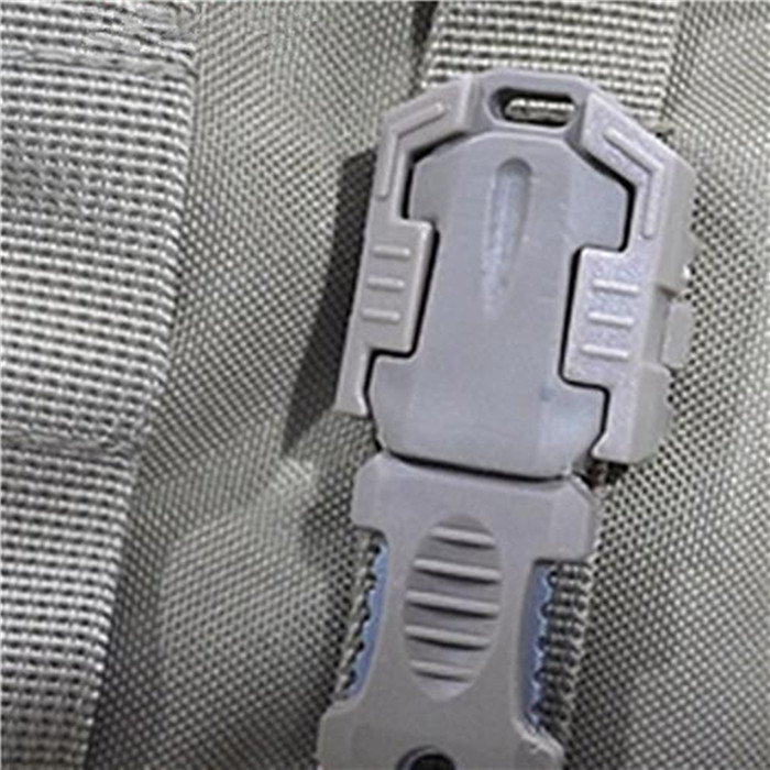 EDC Gear Multifunction Outdoor Camping One Full Blade Survival Knife with Webbing Buckle Style