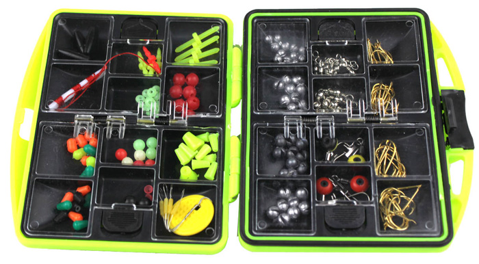 Outdoor Fishing Tool Set 20 Accessories Combination with a Waterproof Box