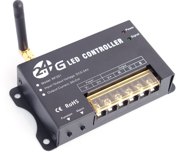 RF201 2.4GHz Wireless 3-channel Full Color Controller with Touch Remote Control for LED Light