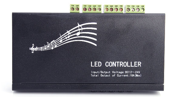 18A 3-Channel Infrared Voice Music RGB LED Controller with 20-Key Remote Controller for RGB LED Lamp ( DC 12 - 24V )