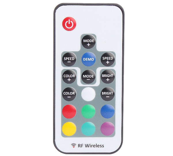 3-channel 4-pin Wireless RGB LED Light Strip Dimmer with RF Remote Controller ( DC 5 - 24V )