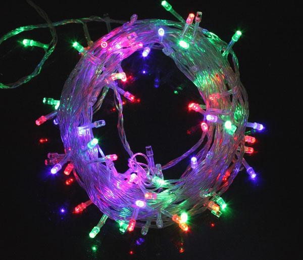 10M 6.5W Christmas Flash 100-LEDs RGB Light Strip Light Lamp ( EU Plug , AC 220V )