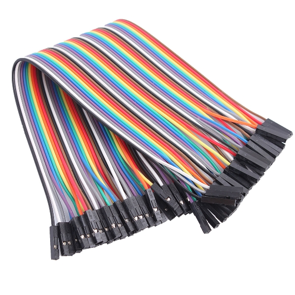 40-Pin Female to Female Rainbow Color Dupont Cable Flat Jumper Wire for Arduino
