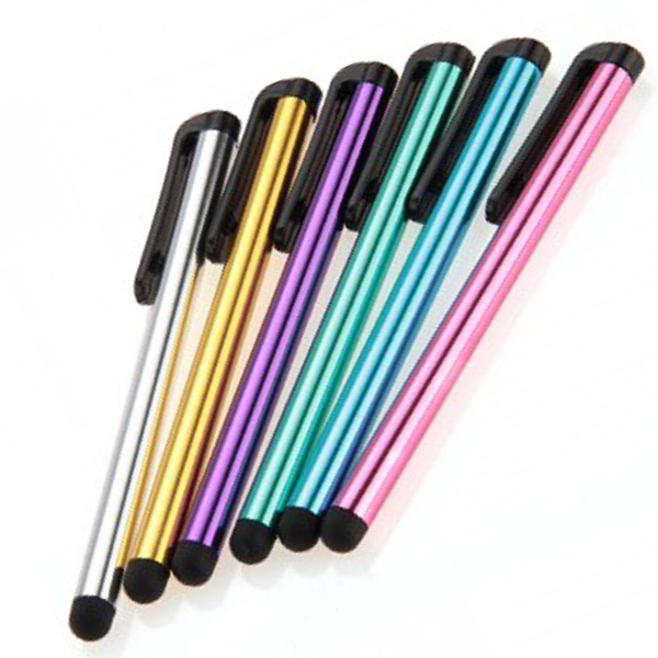 6pcs New Freestyle Stylus Touch Screen Pen with Clip for Smartphones and Tablets