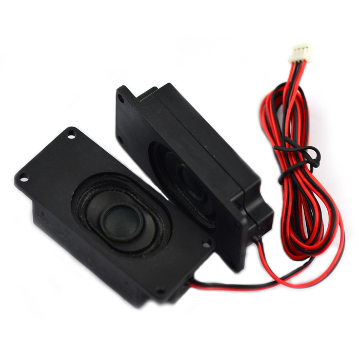 Jtron 2.75 inch 8Ohm 2W Speaker with 56cm Electric Wire Plastic Material for LCD TV 2PCS
