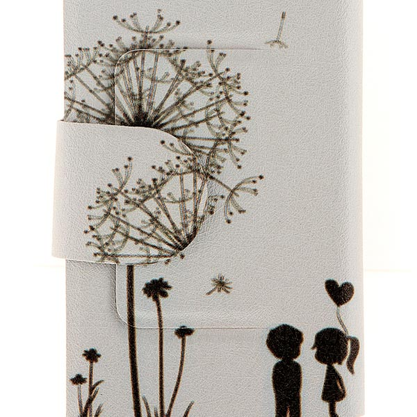 Kinston Dandelion Pattern PU Leather Full Body Cover with Stand and Card Holder for Nokia Lumia 625