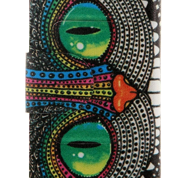 Kinston Shining Eye Monster Pattern PU Leather Full Body Case with Stand and Card Holderfor Huawei P6