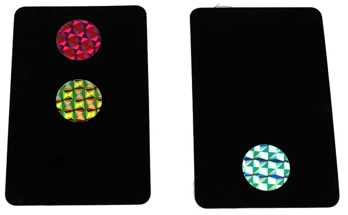 2Pcs Signal Lamp Traffic Stoplight Cards Magic Props