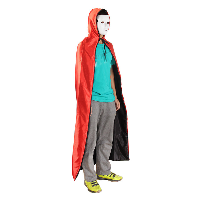 155cm Adult Double - Sided Stain Hooded Cloak Cosplay Halloween Masquerade Costumes