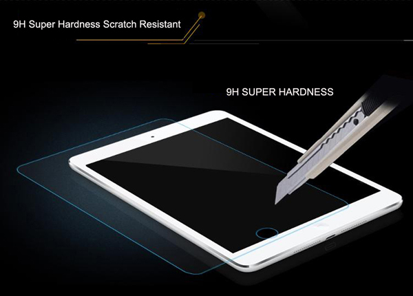 ASLING 0.26mm Ultra-thin HD Toughened Tempered Glass Screen Protector with 9H Hardness 2.5D Arc Edge Fitting for iPad Air / iPad Air 2 / iPad Pro Mini
