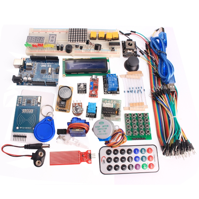 Internet of Things Starter Learning Kit with Improved Version UNO R3 Board Compatible with Arduino
