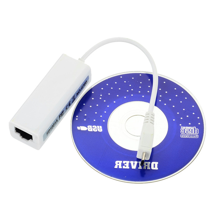 General Micro USB 2.0 to RJ45 Ethernet Network Adapter for Travel