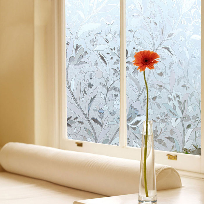 TS-W180 Printing Pattern Frosted Window Film for Bathroom Office Window Decoration
