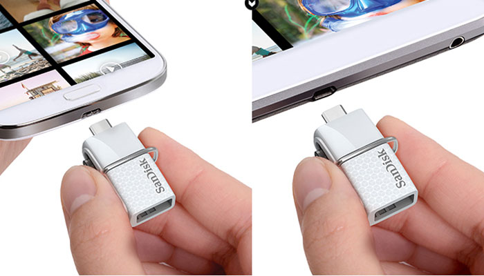 Original SanDisk SDDD2 2 in 1 32GB OTG USB 3.0 Flash Drive for Android Smartphone / Tablet
