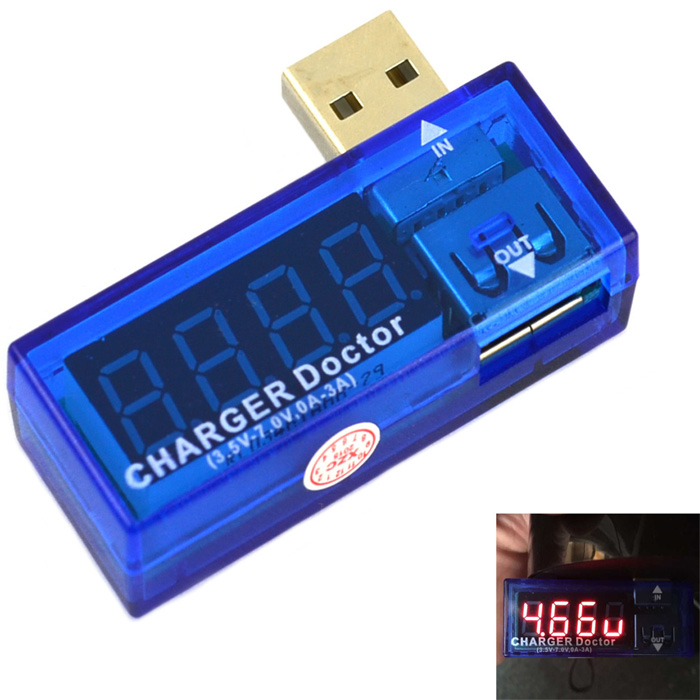 Digital Display Portable USB Power Voltage Current Meter Charger Doctor