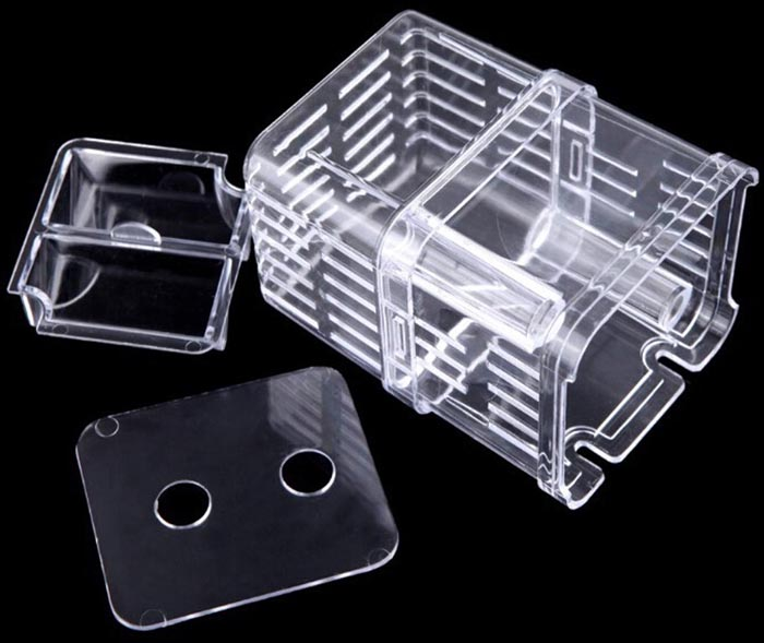 Practical Juvenile Fish Reproduction Isolation Box with Double Incubator
