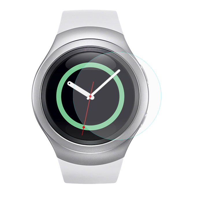 Hat-Prince Tempered Glass Screen Protective Film for Samsung Gear S2 0.2mm 9H 2.15D Curved Explosion-proof