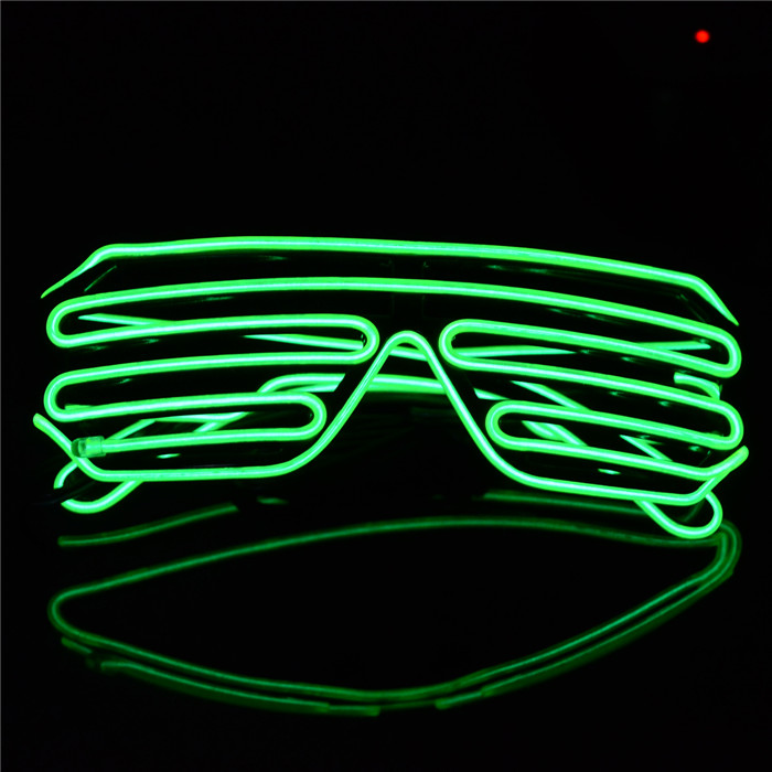 3-Mode Sound Control Cool LED Glasses with Controller Christmas Party Concert Ornaments