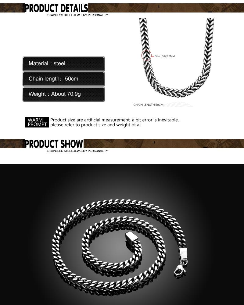 N062 Western 316L Stainless Steel Necklace for Man