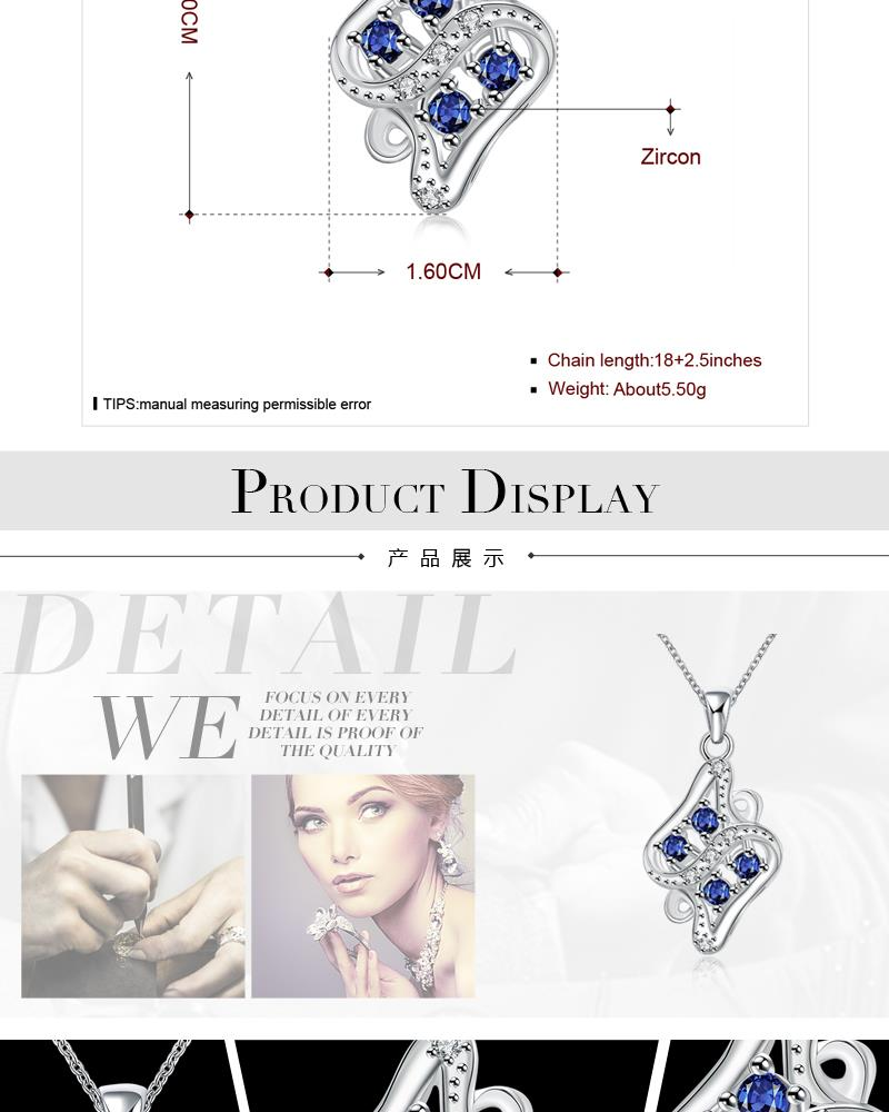 N118-A 925 Silver Plated Necklace Brand New Design Pendant Necklaces Jewelry for Women