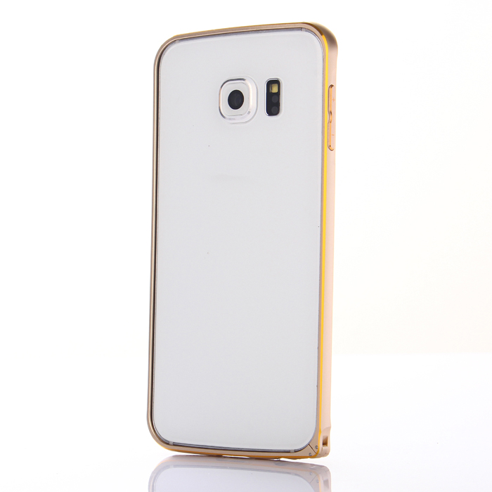 ASLING Metal Bumper Frame Protector for Samsung Galaxy S6 Edge Ultra Slim Double Color Design