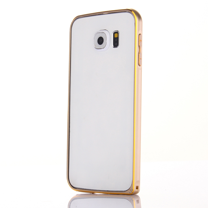 ASLING Metal Bumper Frame Protector for Samsung Galaxy S6 Ultra Slim Double Color Design