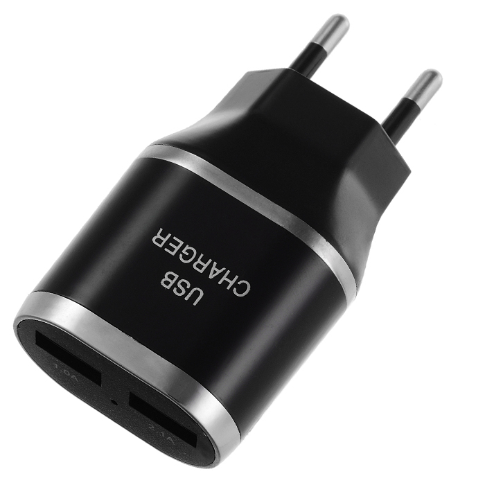 Jtron Practical 5V 3.1A EU Plug Power Adapter Charger with Dual USB Ports