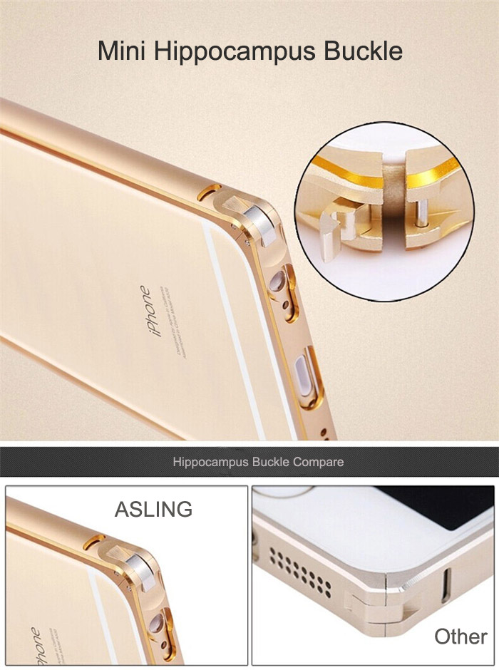 ASLING Metal Bumper Protective Frame for iPhone 6 Plus / 6S Plus Ultra-thin Double Color Design