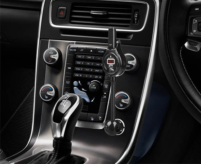 A8 Car Bluetooth V4.0 Stereo MP3 Player Earphones Support FM Transmitter Handsfree Calls with LCD Display Dual USB Ports