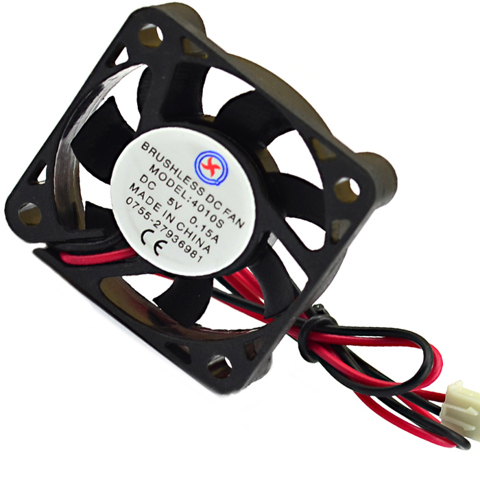 Jtron DC 5V 0.15A 3.9cm Ball Bearing Plastic Cooling Fan