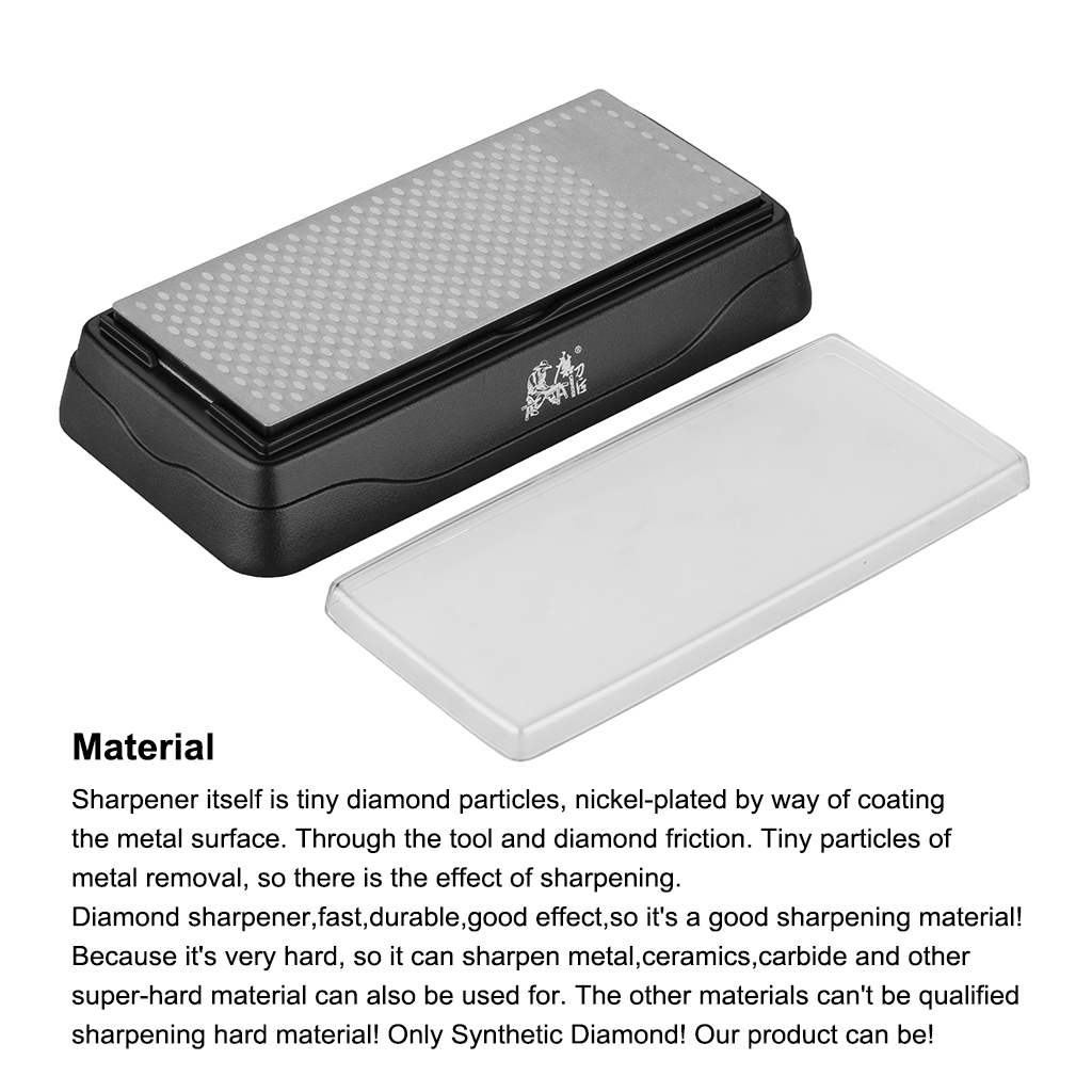 T0831D GRINDER Double sided diamond design Diamond Sharpening Stone Kitchen outdoor Knife Sharpener sharpening system