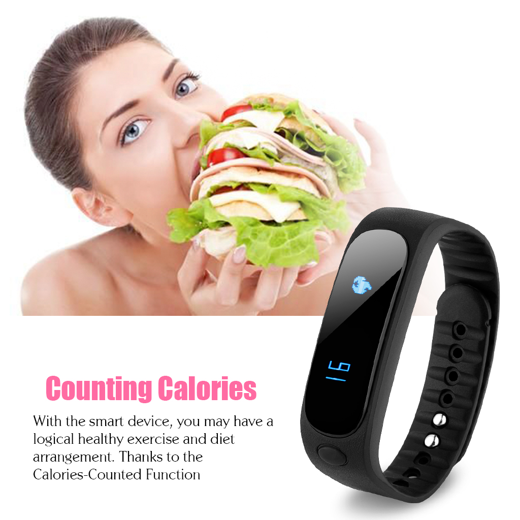 Diggro SW19 Smart Health Bracelet Fitness Bluetooth 4.0 Waterproof IP67 Pedometer Message Longsit Reminder Sleep Calories Tracker Remote Capture Music Controller for Android and ios Phone