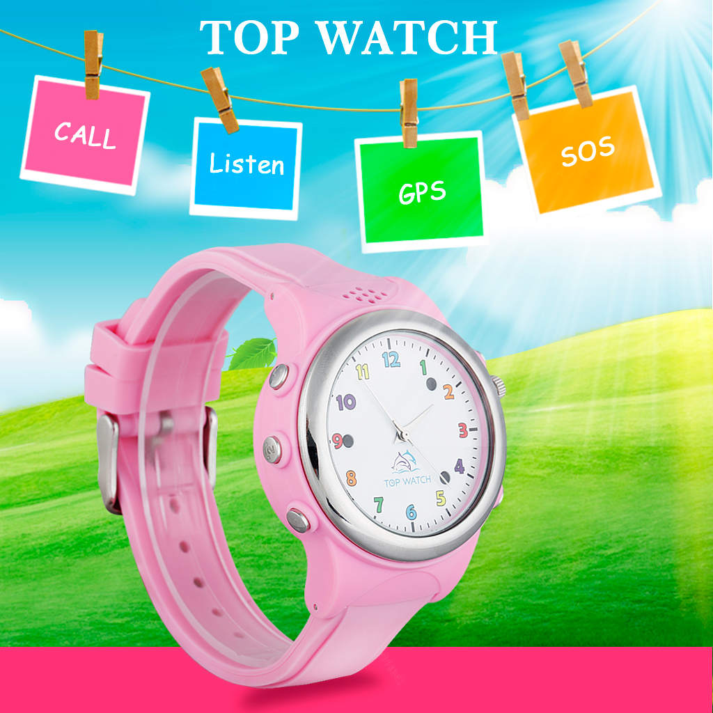 Top Watch TW061 Kids Smart Watch GPS LBS Double Location Safe Children Watch Activity Tracker SOS Call SIM Card for Android iOS