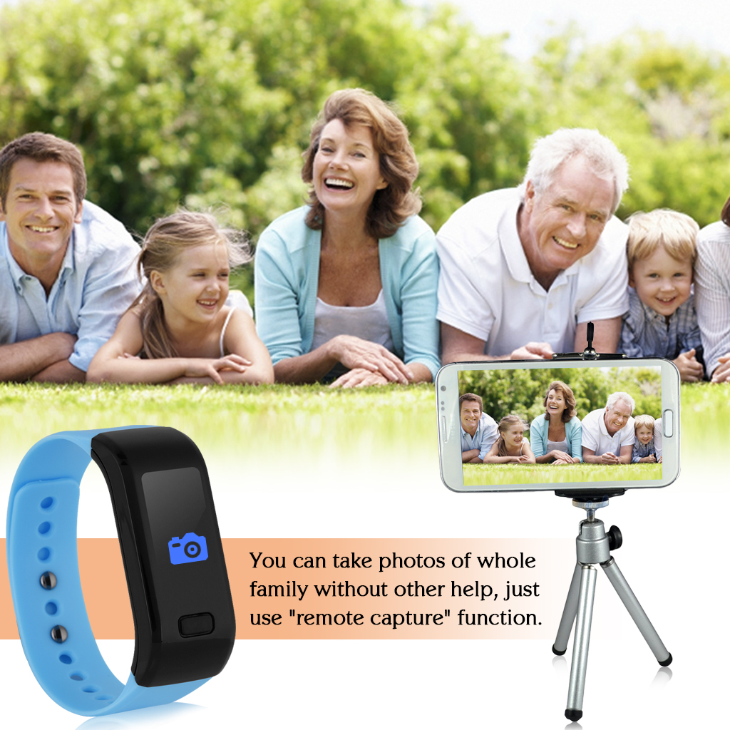 Excelvan OLED Smart Bracelet IP67 Waterproof Bluetooth 4.0 Pedometer Tracking Calorie Health Wristband Sleep Monitor Call Reminder