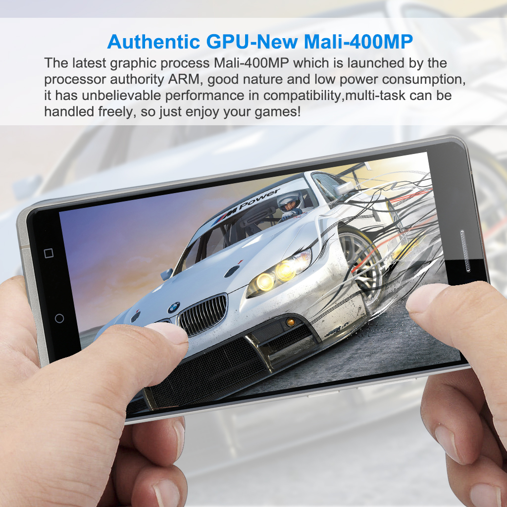 UHAPPY UP580 Android 5.1 Smartphone MT6580 Quad Cores 1.3GHz 6.0 inch Multi-touch screen 960 x 540 Pixels RAM 1GB + ROM 8GB 2500mAh GSM 850 / 900 / 1800 / 1900MHz WCDMA 850 / 2100MHz