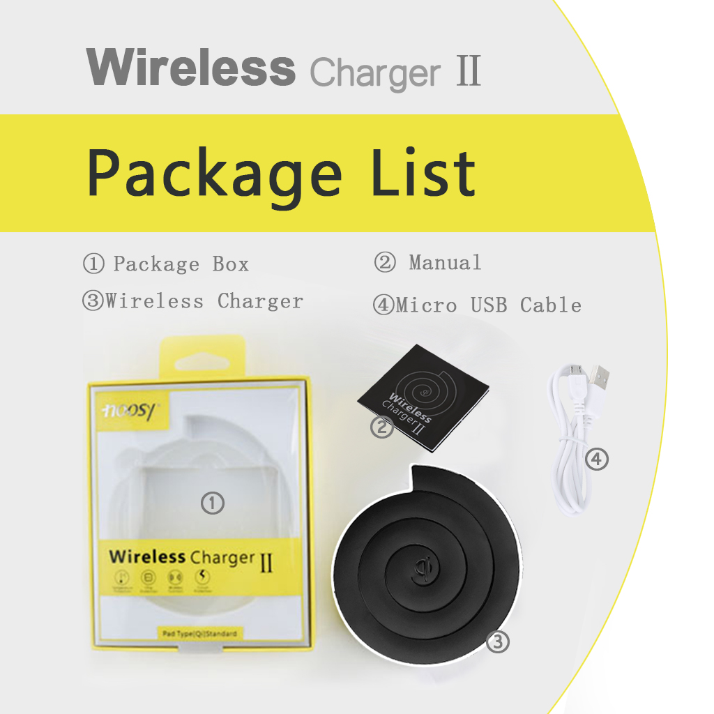 Black NS01 Mobile Phone Wireless Charger