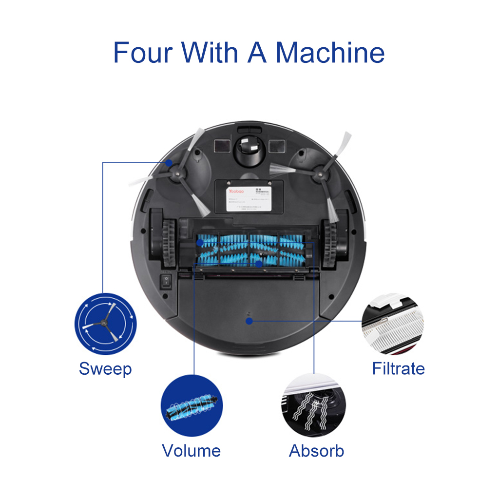 Vacuum Robot US Plug with Multi-point Touch Screen  Lower Noise