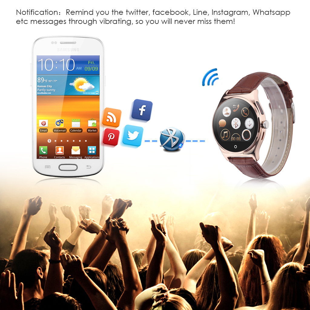 RWATCH R11 Smart Watch Infrared Remote Controller Heart Rate Calls/SMS Sedentary Reminder BT Music Pedometer Sleep Monitor for Android IOS