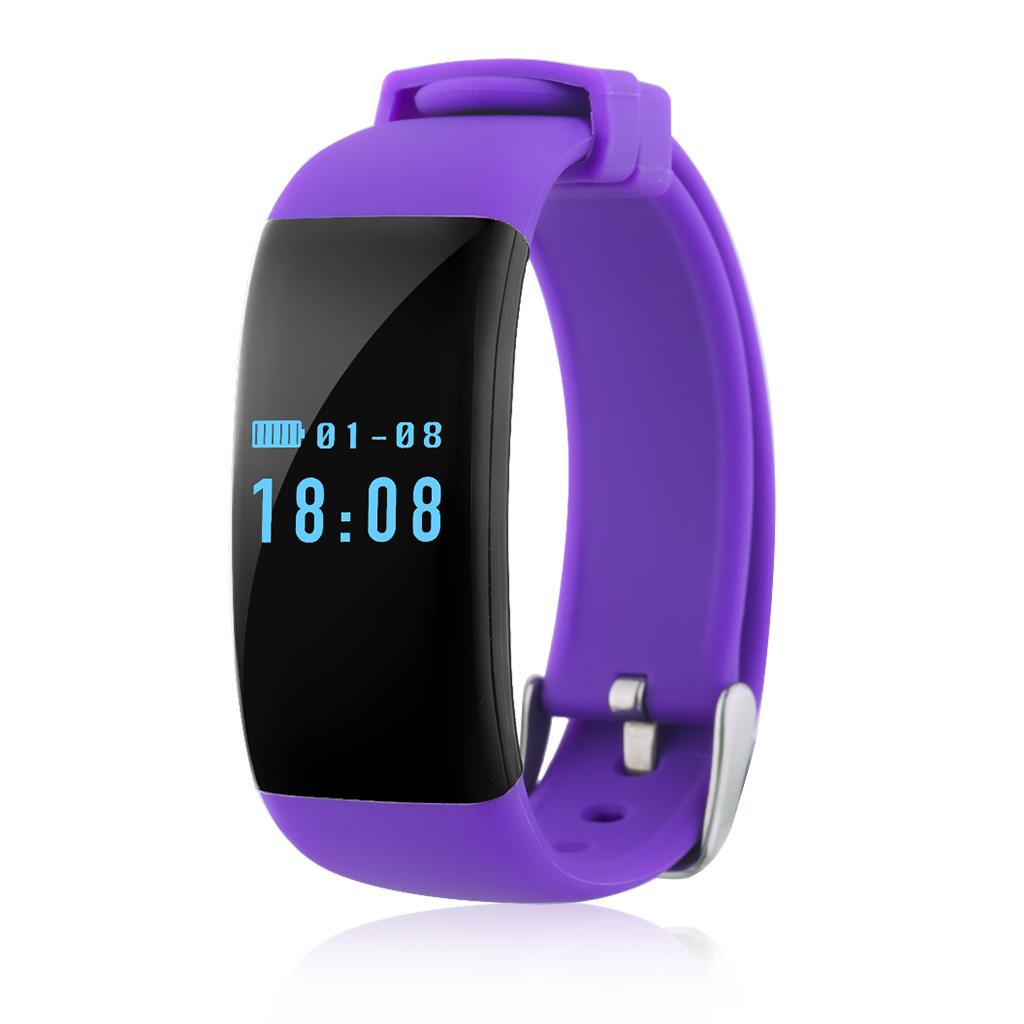 Diggro DFit OLED Smart Bracelet Bluetooth 4.0 IP68 Waterproof Heart Rate Monitor Sports Pedometer Sleep Tracker Call Reminder for Android and iOS