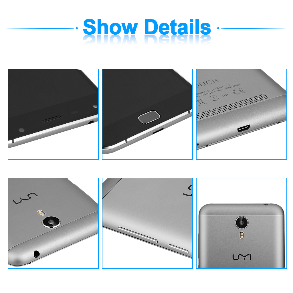 Umi Touch 5.5 inch HD Screen Octa core 1.5GHz 4G LTE FDD Smartphone Android 6.0 3GB RAM 16GB ROM Dual SIM Card Dual Cameras Five Point Super Fast GPS WiFi