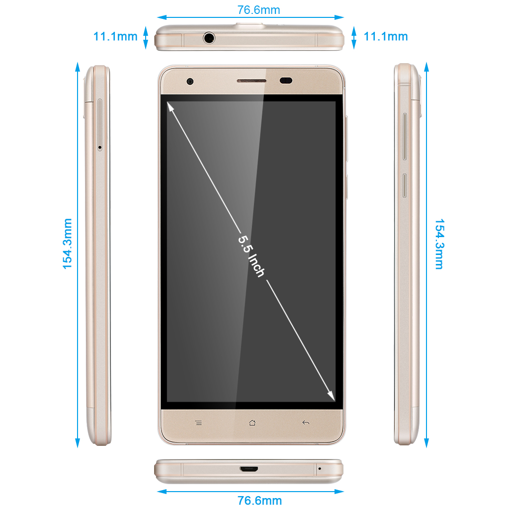 OUKITEL K6000 Pro 4G LTPS Capacitive Screen Smartphone Android 6.0 MT6753 Octa Core 3G RAM 32G ROM Mobile Phone Dual SIM Fingerprint ID OTG Cellphone WiFi