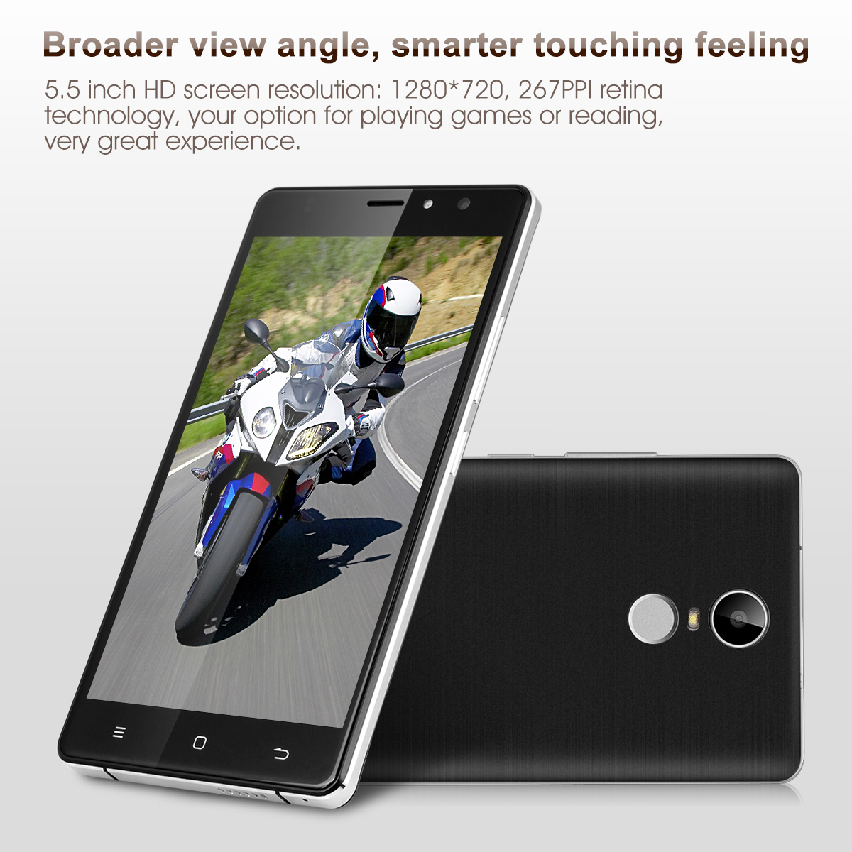 TIMMY M20 Pro IPS 4G LTE Smartphone Android 6.0 MTK6737 1.3GHz Quad Core Mobile Phone Touch ID Dual SIM 1GB RAM 16GB ROM 5MP Back Camara Cellphone Smart Gestures