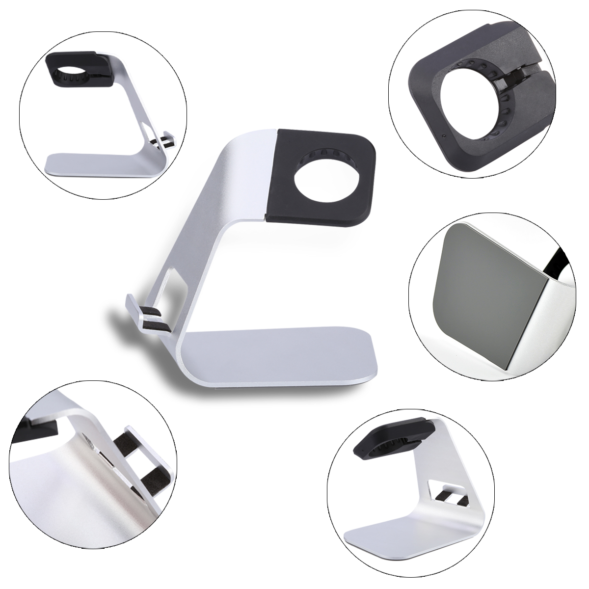 TS026 Smart Charging Stand Anti-scratch Aluminum Build for Apple Watch