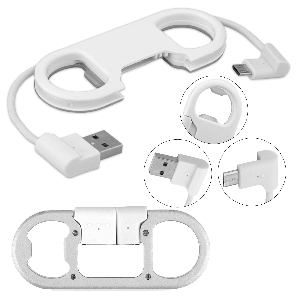 Charge Sync Cable+ Bottle Opener Key Chain High Speed USB Cable 2.1A Convenient Mini Pocket-size Portable Compact For Micro USB Samsung, HTC, Huawei, Xiaomi For travel and business