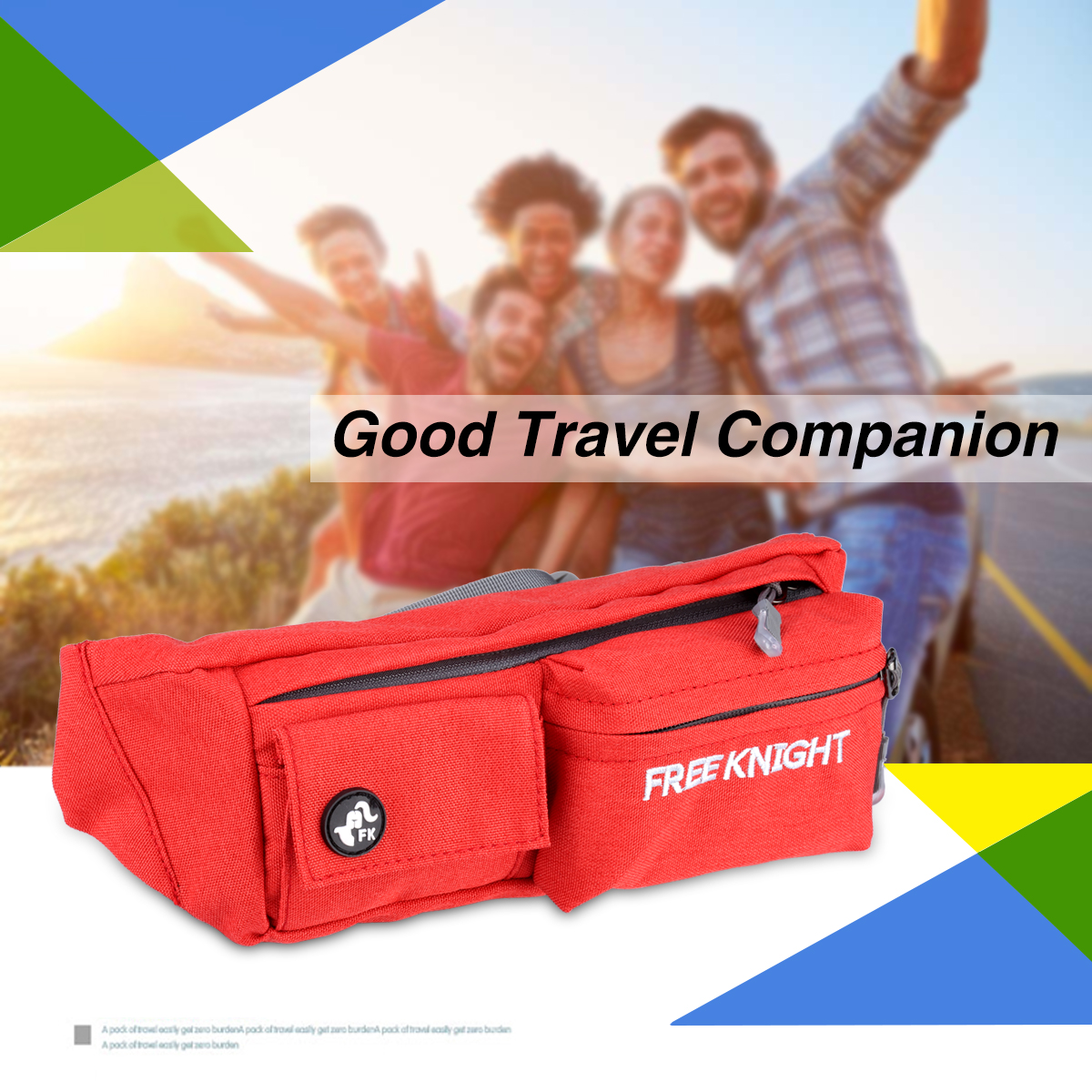 Water Resistant Running Belt Bum Waist Pouch Fanny Pack Camping Sport Hiking Zip Bag Phone Pouch