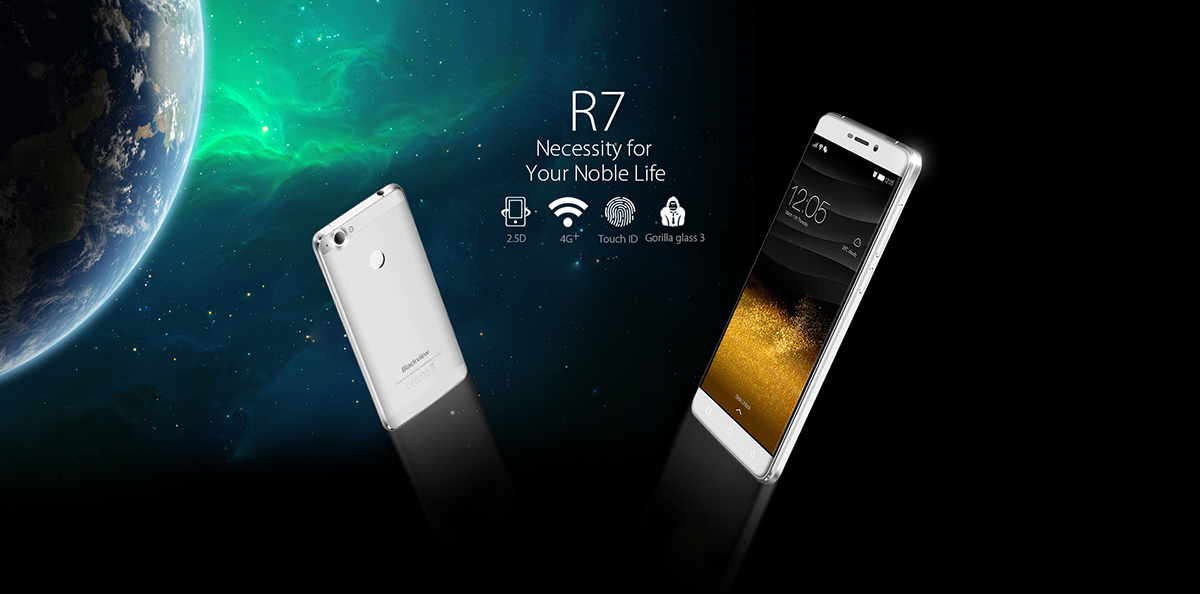 Blackview R7 4G Android 6.0 5.5 FHD 1080*1920 Pixels 5 points G+F MT6755 Octa-core 2.0GHz 4GB RAM 32GB ROM TF 13MP Rear camera 8MP Front camera 3000mAh OTG Double SIM Card GSM/WCDMA/FDD-LTE WIFI GPS F